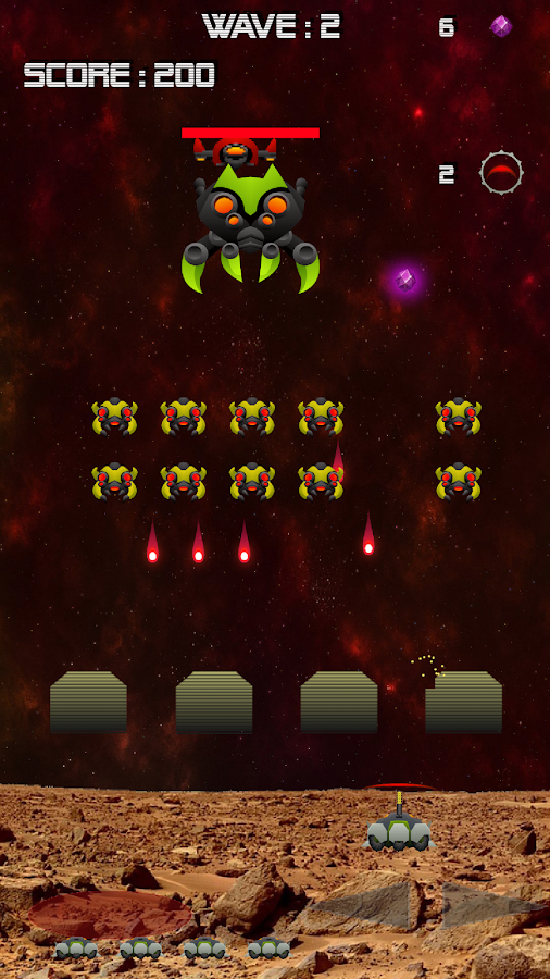 Invaders Mars Defender - Fast Action Space shooter- screenshot