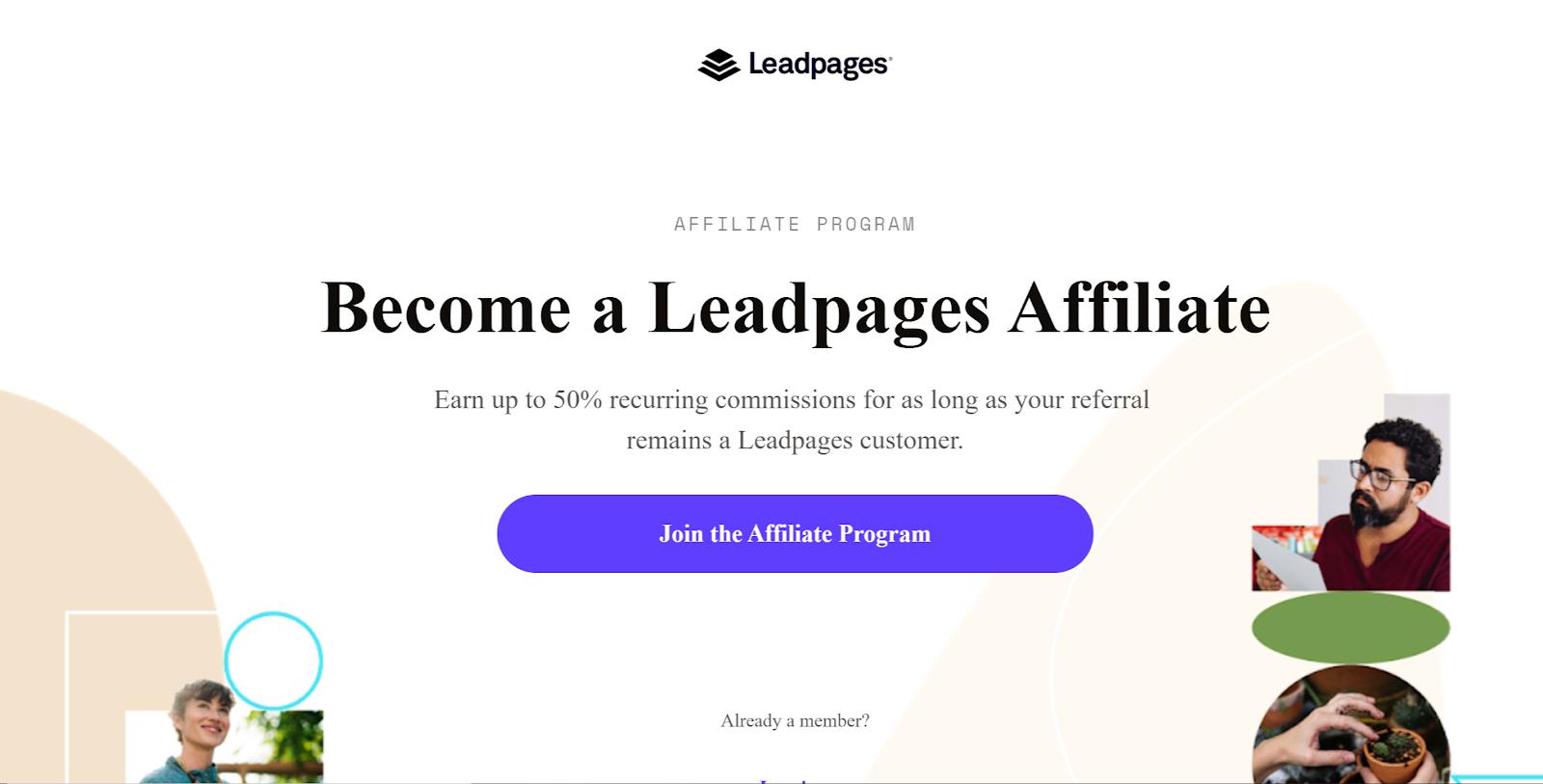 Leadpages passive affiliate income program