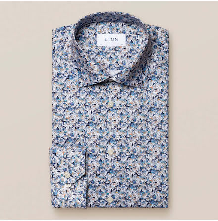 ETON Stained glass floral daisy print slim fit