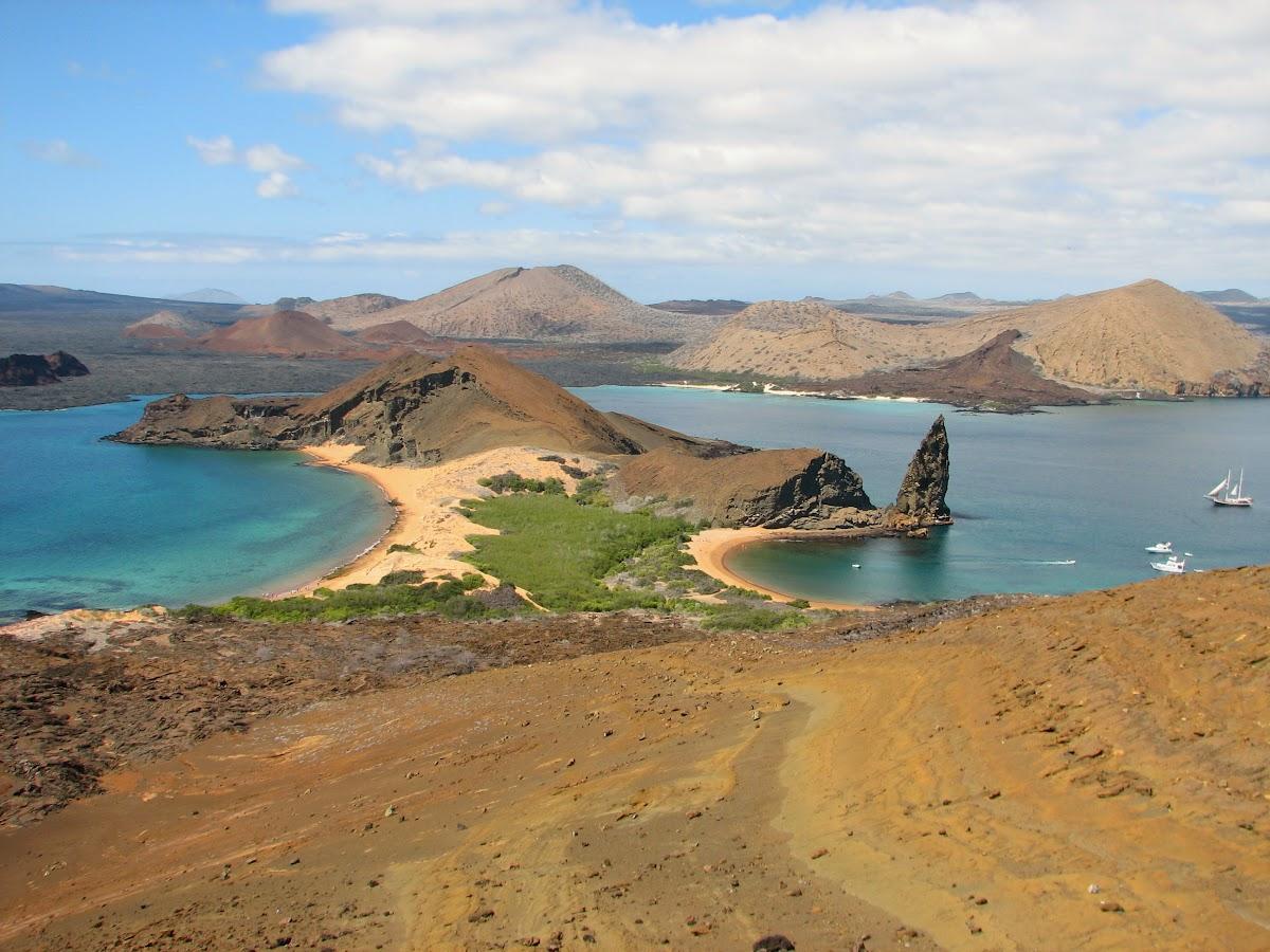 Pinnacle Rock on Bartolome Island, Galapagos Islands
