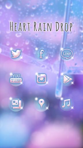 玩免費個人化APP 下載可愛換裝桌布★Heart Rain Drop app不用錢 硬是要APP