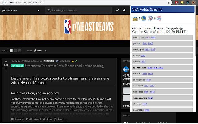 NBA Reddit Streams