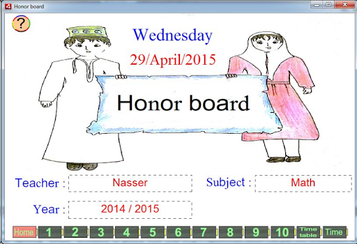 Honor board