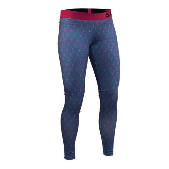 Salming Run Flow Tights, Hexagone Illusion - all-over-print, Women Stl S