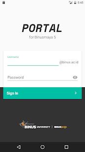Portal for Binusmaya - náhled