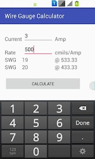 Wire gauge calculator android apps on google play wire gauge calculator screenshot thumbnail keyboard keysfo Image collections
