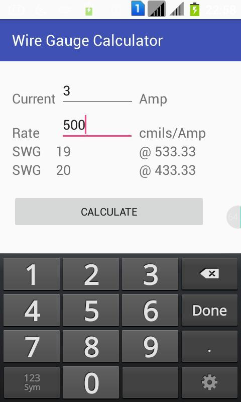 Wire gauge calculator android apps on google play wire gauge calculator screenshot greentooth Image collections