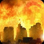 Burning city LWP