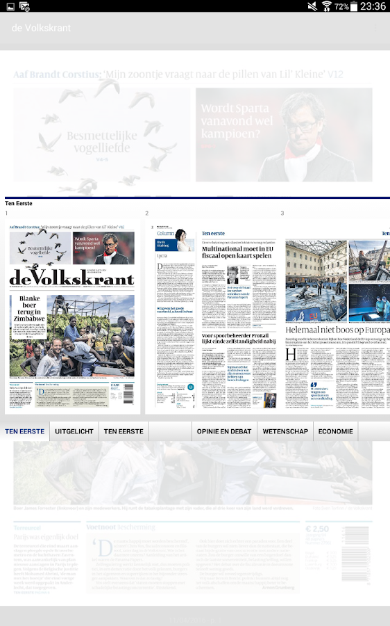 de Volkskrant- screenshot