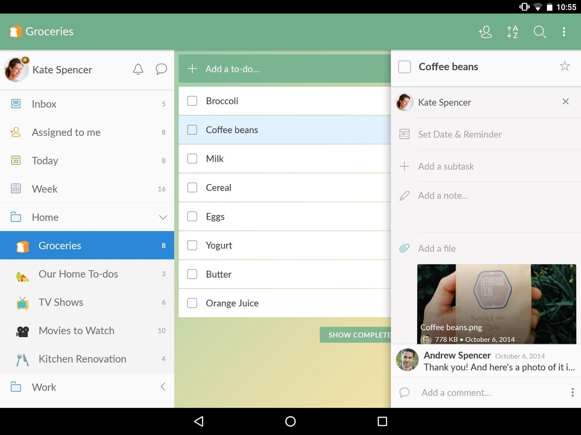 Wunderlist: To-Do List & Tasks screenshot #11