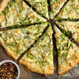 Shaved Asparagus and Gorgonzola Pizza.