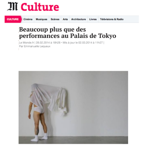 Davide Balula, Le monde Culture, 2014
