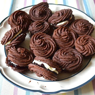 Chocolate Viennese Whirls.
