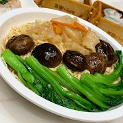 92. Braised E-fu Noodle with Fish Maw and Mushroom