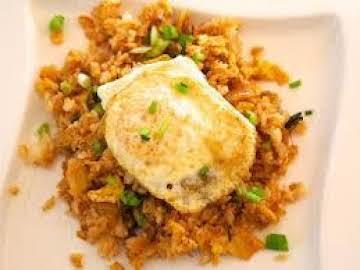Umami kimchi fried rice with fried egg
