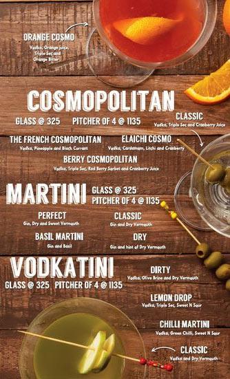 Lord of the Drinks Meadow menu 5
