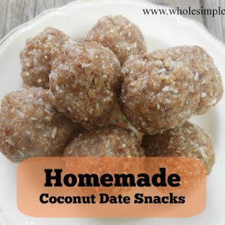 Homemade Coconut Date Snacks
