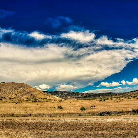 lonesome hills by Bruce Newman - Landscapes Mountains & Hills ( nature, dramatic, colorfull, clouds, desert, landscape,  )