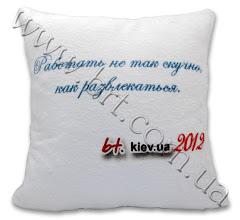 Photo: Сувенирная подушка для интернет-магазина бытовой техники bt.kiev.ua. Искусственный мех, полноцветная термопечать