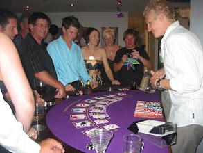 Photo: James dealing Balckjack with L plates!