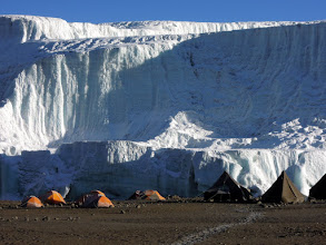 Photo: The Northern Ice Field (NIF) and our camp