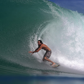 Big Wave Sumatra by Paul Kennedy - Sports & Fitness Surfing ( surfing, surfer, waves )