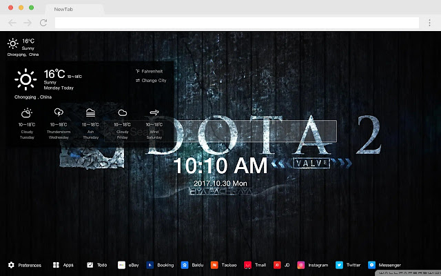 Dota 2 Popular Games HD New Tabs Themes