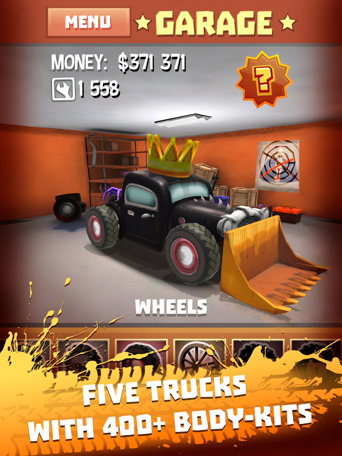 Freak Truck: Crazy Car Racing- screenshot