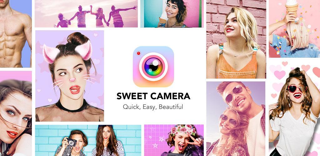 Resultado de imagen de Sweet Selfie - Beauty Camera & Photo Editor & Collage apl