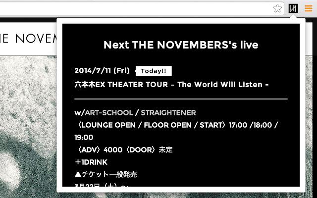 Next THE NOVEMBERS's live