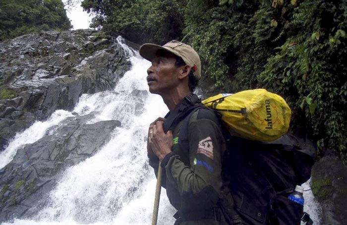 Mukhtar used to be an illegal logger. Now he coordinates community forest rangers in Aceh. Photo: Rizal Purba