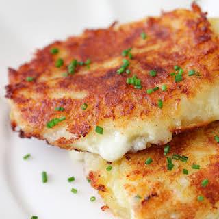Cheese Stuffed Mashed Potato Cakes.