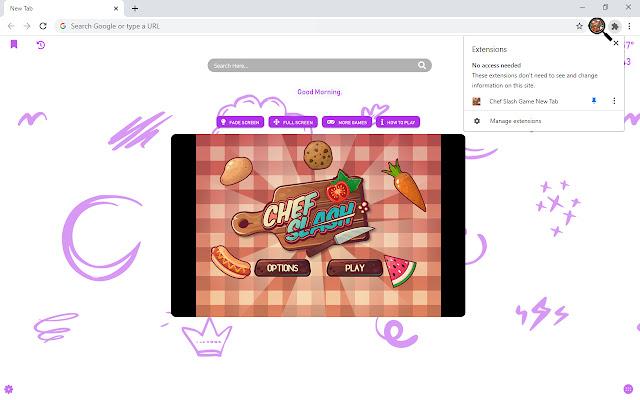 Chef Slash Game New Tab