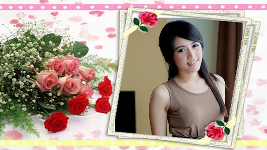 Rose flower frame photomontage screenshot