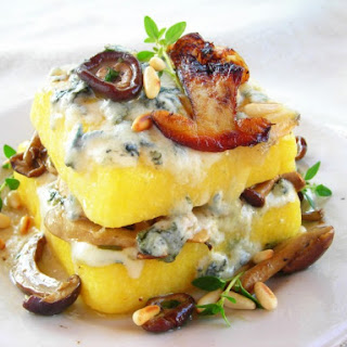 Mushroom & Gorgonzola Pressure Cooker Polenta Lasagna.