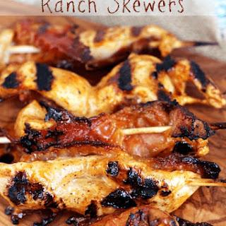 Sriracha Chicken Bacon Ranch Skewers.