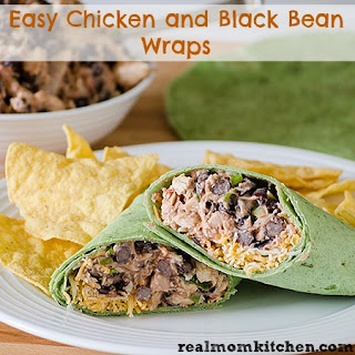 Easy Chicken and Black Beans Wraps