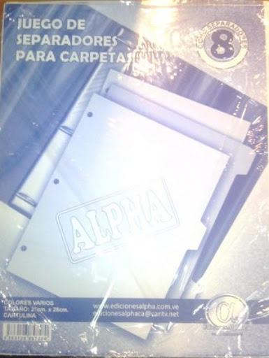 juego de separadores alpha x8