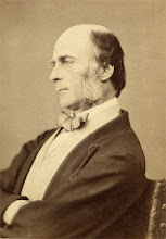 Photo: Francis Galton, Charles Darwin's cousin, in 1869. This print is in carte de visite format. Photographer: Barraud & Jerrard. Scanned with permission from the original owned by the Wallace family. Copyright of scan: A. R. Wallace Memorial Fund & G. W. Beccaloni.
