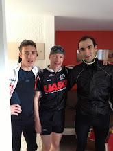 Photo: Guillaume, Eric et Mauro après la CAP de J3