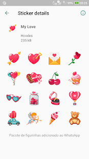 WAStickerApps - Love Stickers for WhatsApp Screenshot