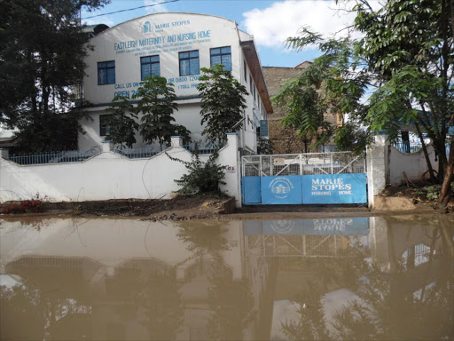 The entrance of a Marie Stopes clinic in Eastleigh, Nairobi. /FILE