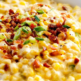 Slow Cooker Ricotta Rosemary Creamed Corn.