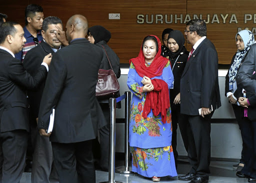 Rosmah Mansor, the wife of former Malaysian prime minister Najib Razak, arrives to give a statement to the Malaysian Anti-Corruption Commission in Putrajaya on June 5 2018. Picture: REUTERS