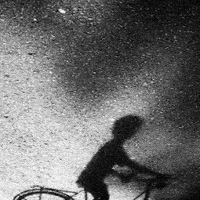 Biker Shadow by Irfan Maulana - City,  Street & Park  Street Scenes ( sepeda, bike, shadow, bayangan, bicycle )