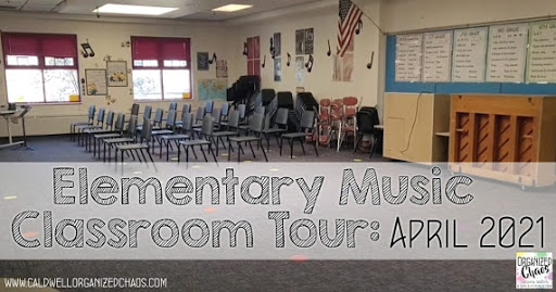 Elementary Music Classroom Tour: April 2021