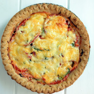 Fresh & Creamy Tomato Pie