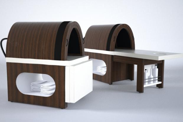 Sauna infrarouge Vital Dome Nomade pour des soins par l'infratherapie même dans des espaces réduits