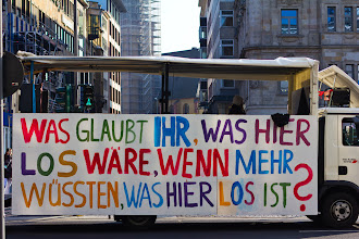 """Photo: Occupy Frankfurt – It says (excuse my poor english, please): """"What do you think would happen here, if more people would know, what's happening here."""""""