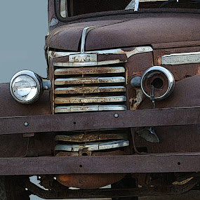 Rusty 1940's GMAC Heavy Duty Tow Truck by Howard Mattix - Transportation Other ( trucks, transportation, antique, art object, decay,  )